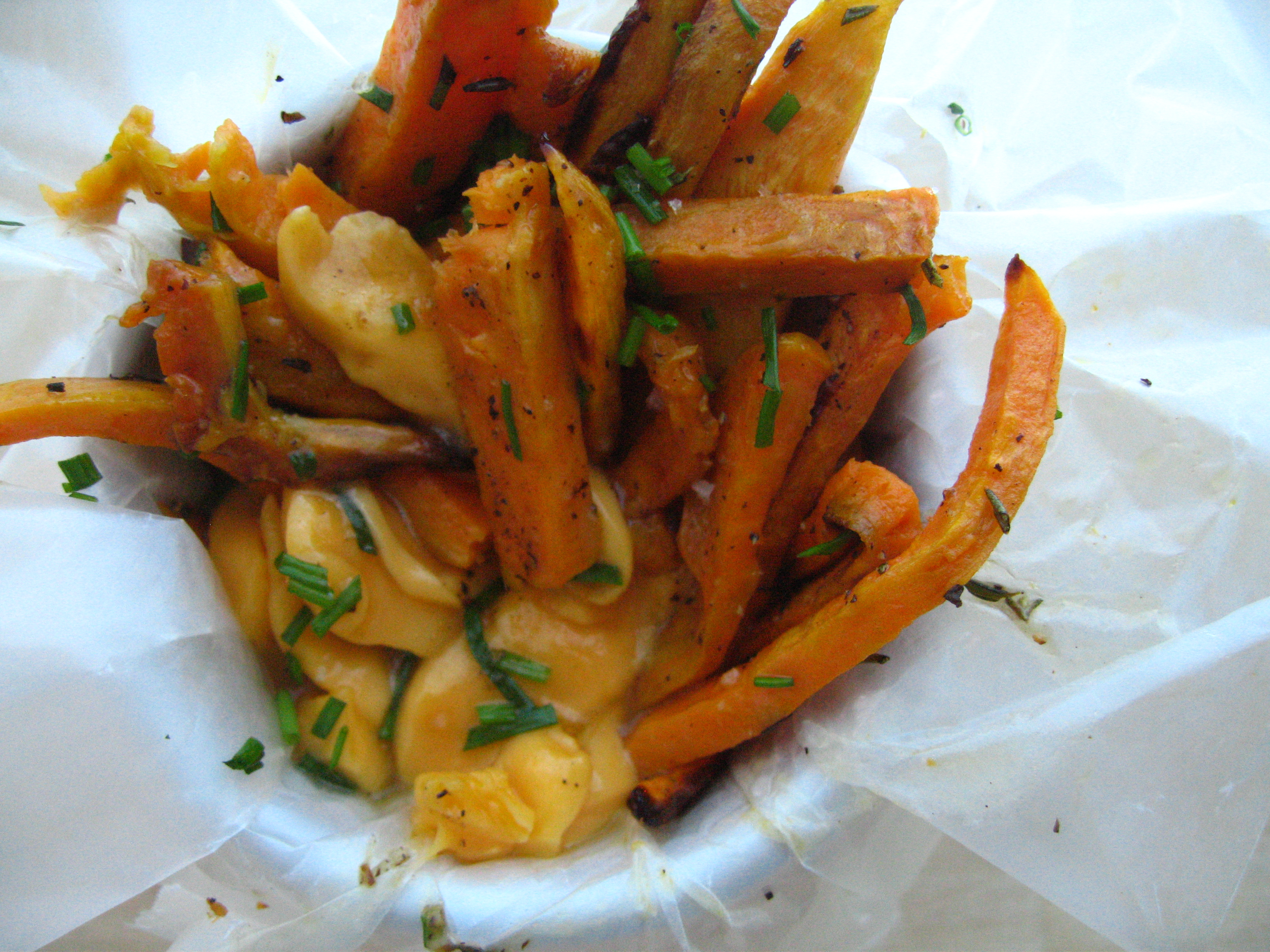 have been thinking about making sweet potato poutine for some time ...