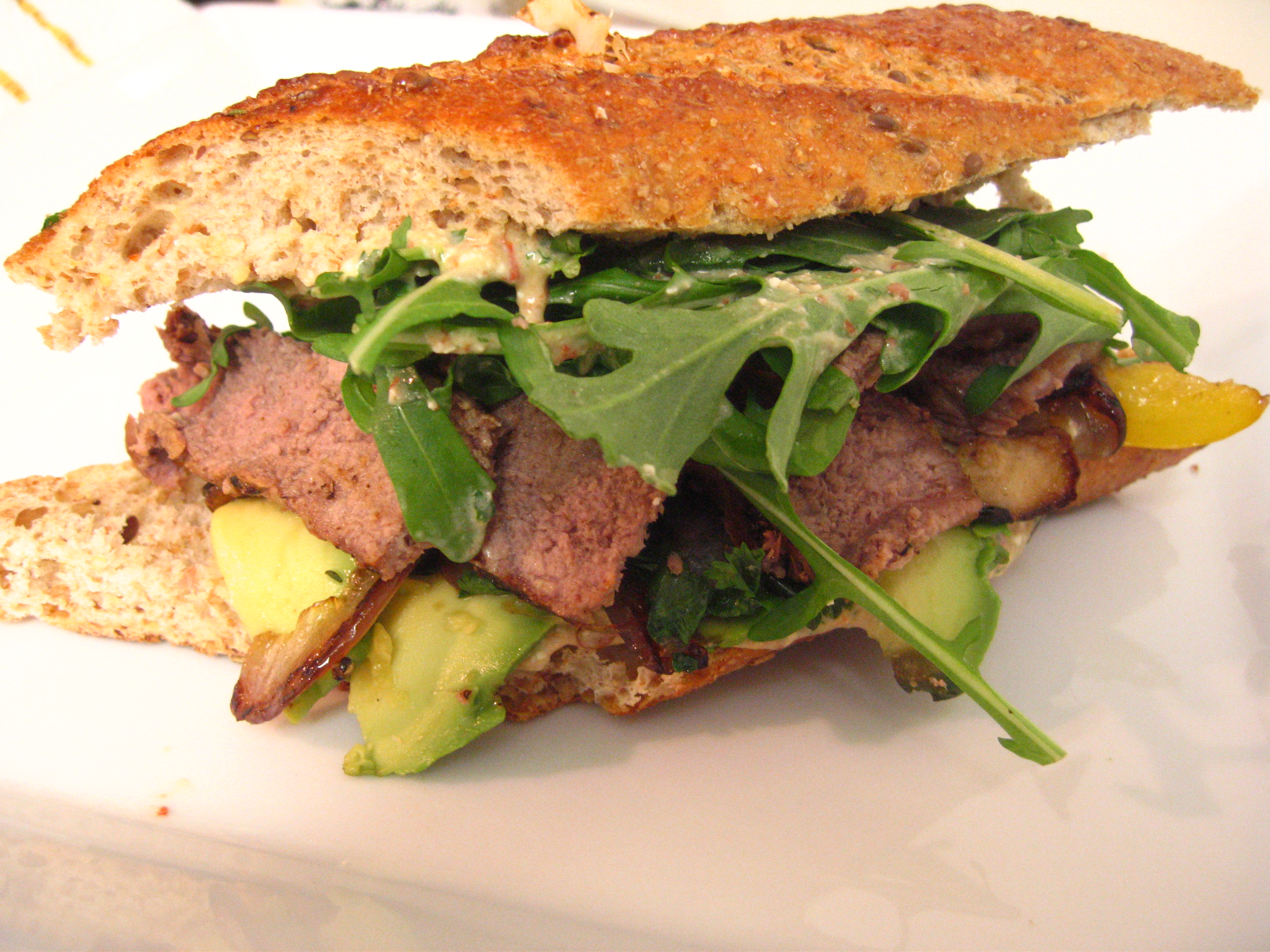 steak sandwich | for the love of yum